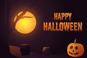Happy Halloween Background Greeting Card Illustration vector