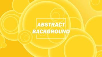 yellow abstract background with circle elements, desktop wallpapers vector