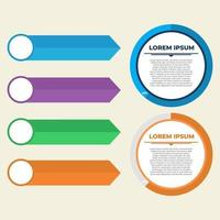 Infograph Color Round Information Chart Elements vector