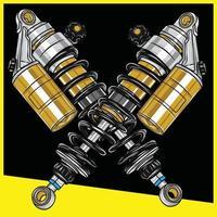 shock motorcycle vector