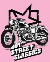 hot street classic adventure motorbike vector