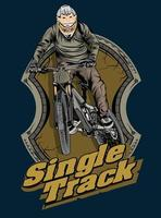 single track freestyle vector