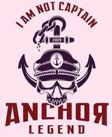 anchor legend art vector