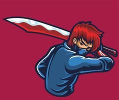 big sword esport logo vector