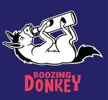 boozing donkey fun vector