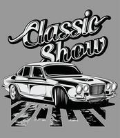 classic show classic sports car vector
