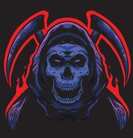 skull reaper logo vector