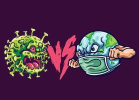 earth vs corona vector