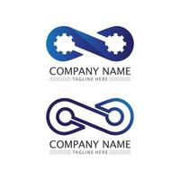 infinity design logo and 8 icon business and corporate infinity symbol vector