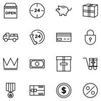 ecommerce icon set element vector design