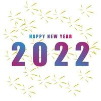happy new year 2022 background vector