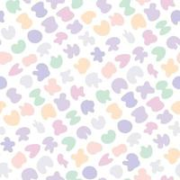 Cute gentle childish seamless pattern with colorful pastel spot stains vector