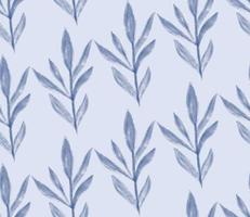 watercolor textured winter floral seamless pattern frozen tree branch vector
