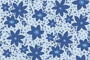 Beautiful winter season, Christmas seamless pattern, blue flowers vector