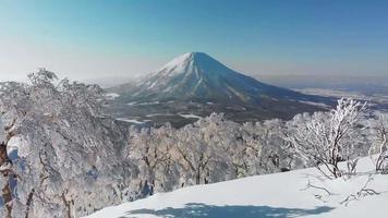 paysage naturel paysage en hiver video