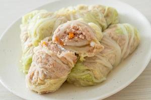 Minced Pork Wrapped in Chinese Cabbage photo