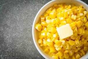 Butter corn or Sweet corn photo