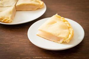 Toddy palm pies on plate photo