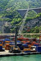 Containers in the port of Salerno photo