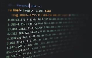 HTML code Writtining photo