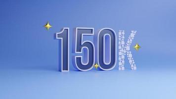 150k seguidores celebración logro en redes sociales foto