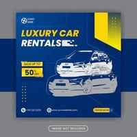 Car rentals social media post banner template free vector
