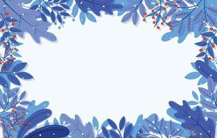 Flat Background with Winter Floral vector