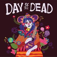 Day of the Dead Greeting Card vector