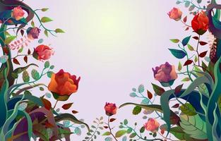 Beautiful and Colorful Floral Border Background vector