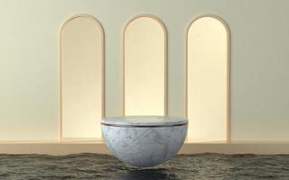 Minimalistic scene with bowl product stage photo