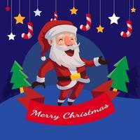 Santa Christmas Background vector