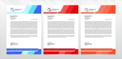 Modern business letterhead template vector