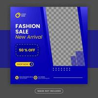 Social media post template for new arrival promotion vector