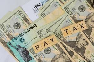 formulario 1040 del impuesto sobre la renta individual del servicio de impuestos internos del irs americano foto