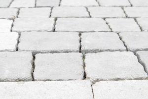 losas o piedra gris de hormigón o pavimentada recién colocada foto