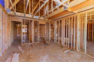 House attic interior under construction photo