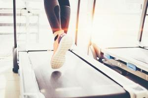 Jogging on the treadmill photo