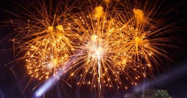 New Year celebration Colorful Fireworks photo