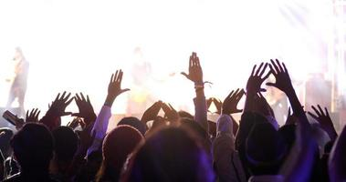 Silhouette of a concert crowd photo