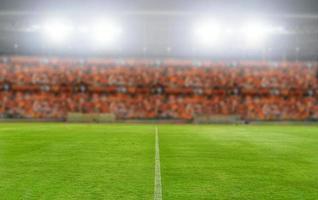 Football stadium, soccer field background photo