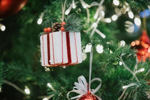Ornaments on the Christmas tree photo