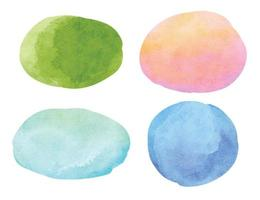 Abstract watercolor background. Circle and oval watercolor texture vector