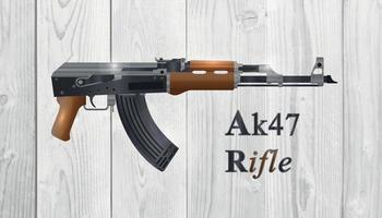 Russian automatic machine rifle AK 47 without stock vector