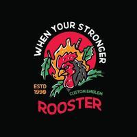 Roosters Illustration Vintage vector