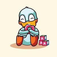 Duck Mascots Logo Character vector