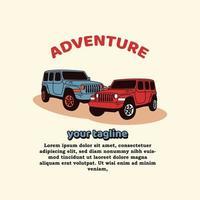 Adventure Car Mascots Logo vector