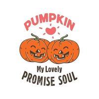 Twin Pumpkin Smile Illustration vector