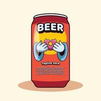 Beer bottle mascots Logo vector