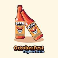 Beer Bottle Logo vector