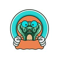 Crocodile cute mascots logo design vector